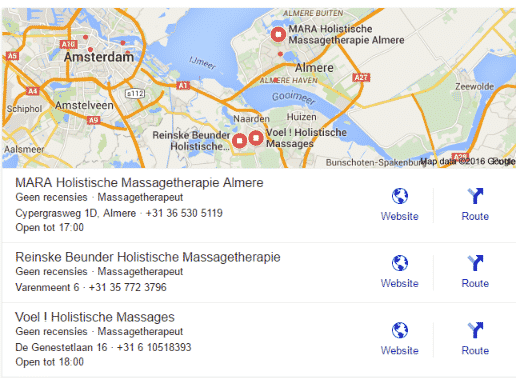 Holistische Massagetherapie Almere - Mara op de kaart!