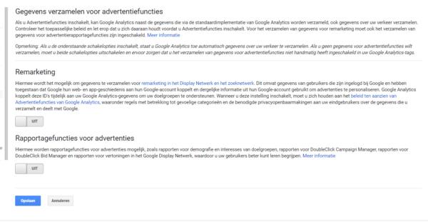 Google Analytics Privcay vriendelijk instellen voor AVG