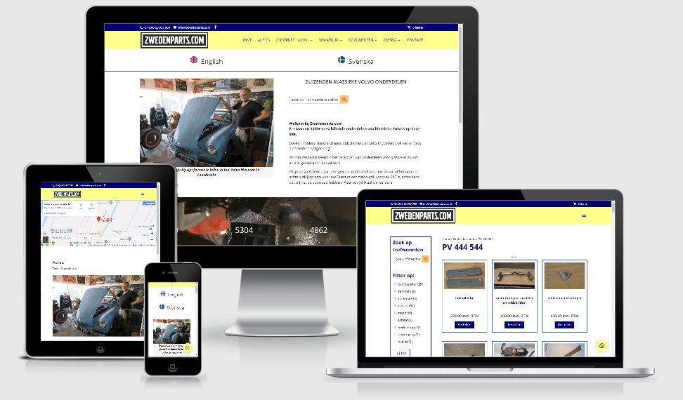 Zwedenparts nieuwe webshop
